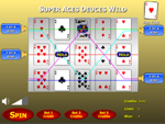 Super Aces Deuces Wild Poker Slots Game