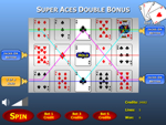 Super Aces Double Bonus Poker Slots Game
